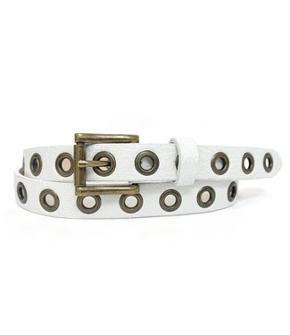 Brave Belt - White with  Grommets