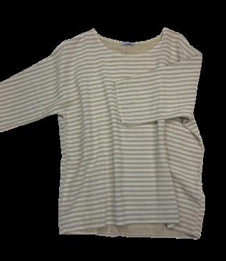 Pure Venice Linen Striped Top - Sand