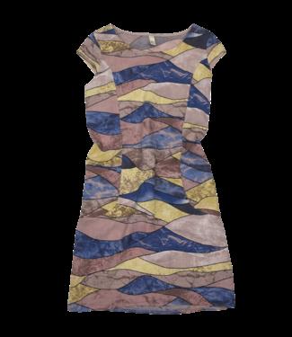 Pure Venice Cap Sleeve Dress -Geometric Pink