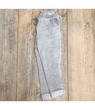 Made in Italy Crinkled Joggers - Grey