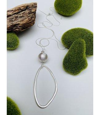 Metallic Ball Pendant - Silver