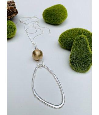 Metallic Ball Pendant - Gold