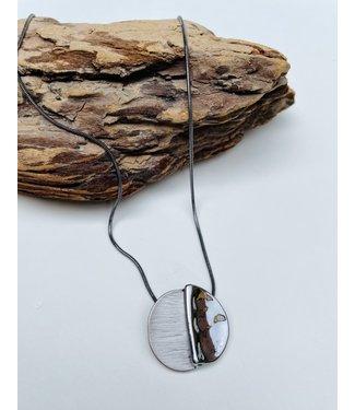 Hematite Medallion Necklace