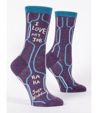 Blue Q Crew Socks - I Love My Job