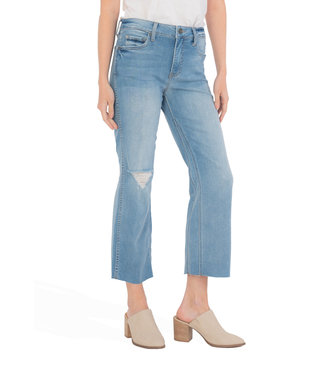 KUT Jeans Kelsey High Rise Ankle Flare - distressed