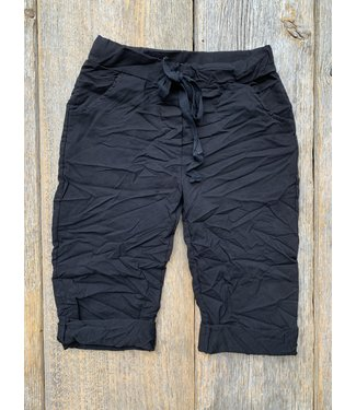 Made in Italy Crinkled  Shorts - Black
