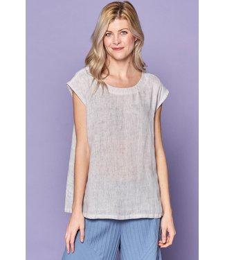 Focus Linen Short Sleeve Top