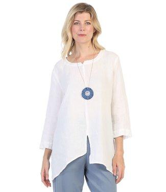 Focus Linen 3/4 Sleeve Top