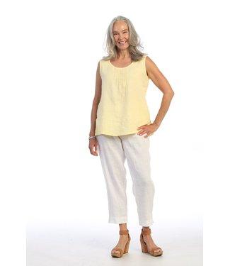 Focus Linen Bottom Band Pants