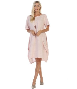 Focus Linen Dress with Side Pockets