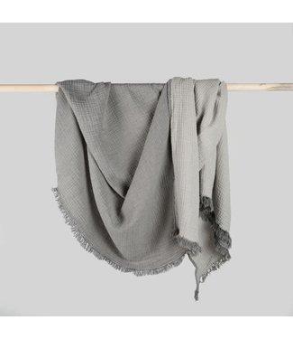 Pokoloko Throw - Crinkle - Charcoal/Grey