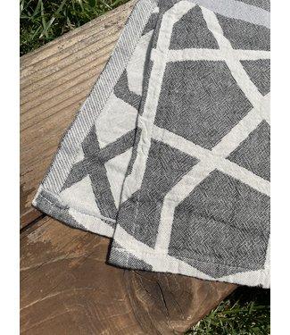 Pokoloko Turkish Hand Towel - Mosaic - Black