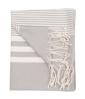 Pokoloko Turkish Hand Towel - Harem - Silver
