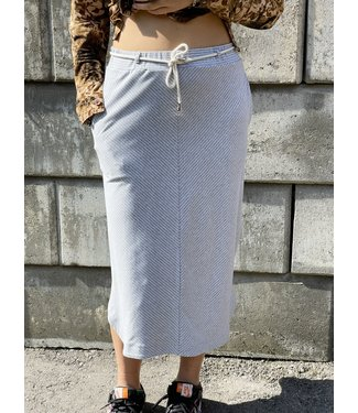 Grey Skirt Diagonal Stripes
