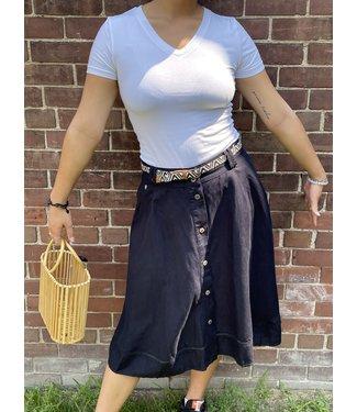 Ragwear Ragwear Navy Skirt with Buttons