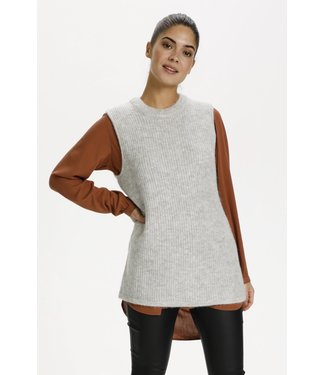 Kaffe Mirana Knit Vest - Light Grey