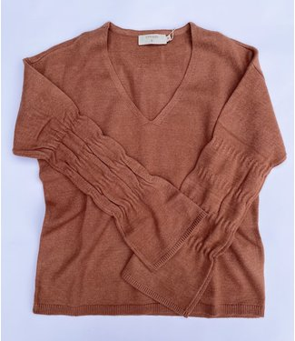 Cream Dela Knit Pullover - Russet
