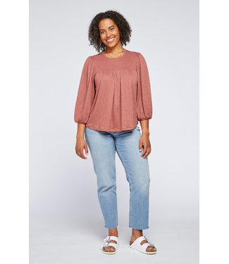 Gentle Fawn Empire Line Top - Rosewood
