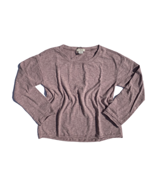 Mododoc Long Sleeve Relaxed Top - Mauve