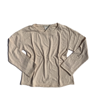Mododoc Long Sleeve Relaxed Top - Ivory