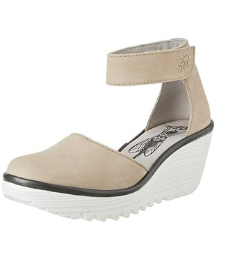 Fly London Sandals - Beige with White  Sole - Size 40