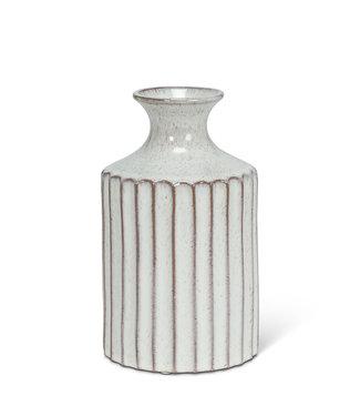 Abbott Ribbed Tall Neck Vase - Natural