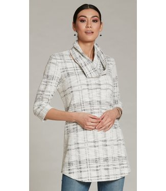 Luc Fontaine Long Sleeve Tunic Dress with Scarf