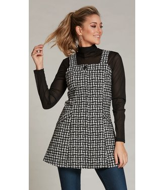 Luc Fontaine Tunic with Pockets - Hounds Tooth