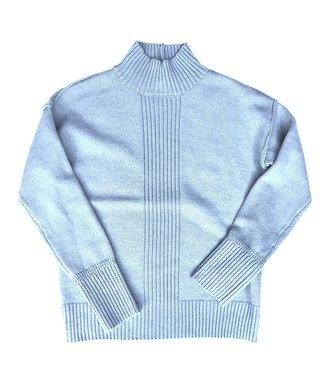 Point Zero Knit Mock Neck Sweater - Blue