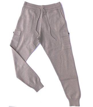 Apricot 2 Pocket Knitted Jogger - Stone