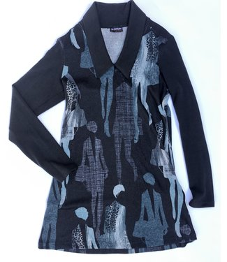 Luc Fontaine Tunic with Collar - Teal