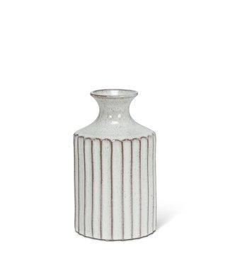 Abbott Small Ribbed Tall Neck Vase - Natural