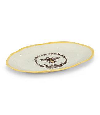 Abbott Bee in Wreath Oval Platter