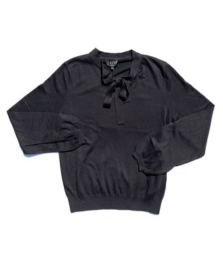 Zilch Sweater Ribbon - Black