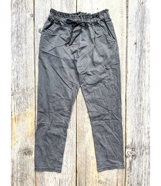 Made in Italy Crinkled Lyocell Pants - Coffee