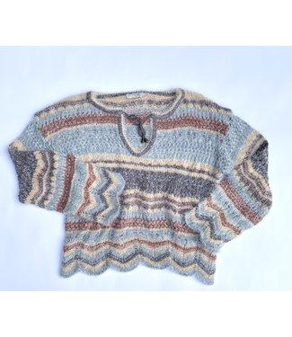 Cream Lilli Pullover - Striped