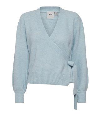ICHI Wrap Sweater - Celestial Blue