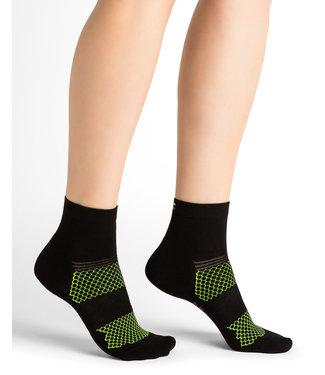 BleuForet Sport Socks - Black and Green