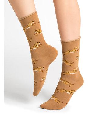 BleuForet Velvet Cotton Socks - Panther Pattern