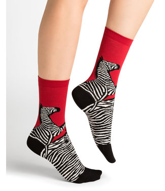 BleuForet Cotton Socks - Zebra Pattern