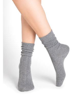 BleuForet Cashmere Blend Socks - Grey