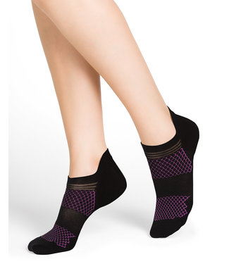 BleuForet Sport Socks - Black and Fuchsia