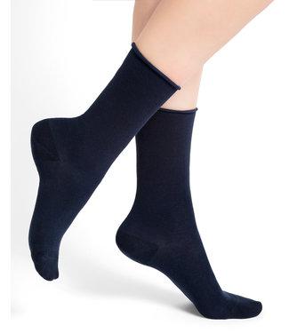 BleuForet Roll Top Cotton Socks - Navy