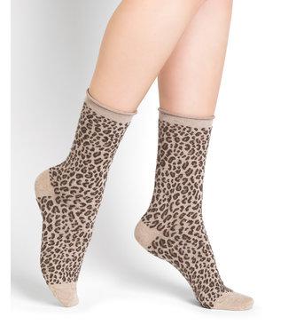BleuForet Wool and Cotton Socks - Leopard Print
