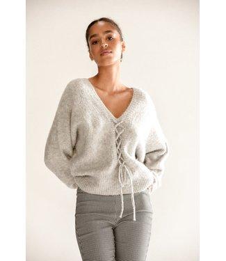 Molly Bracken Sweater with Lacing - Cream