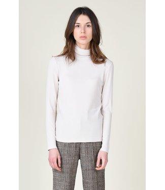 Molly Bracken Rib Knit Turtleneck - Cream