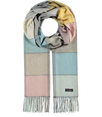 Fraas Multi Colour Block Cashmink Scarf - Off White