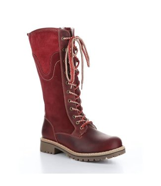 Bos&Co Harrison Suede Boots - Red Sangria