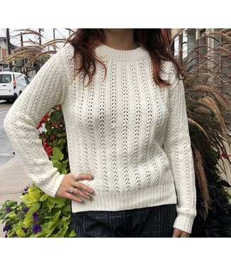 Point Zero Loose Knit Sweater - Cream