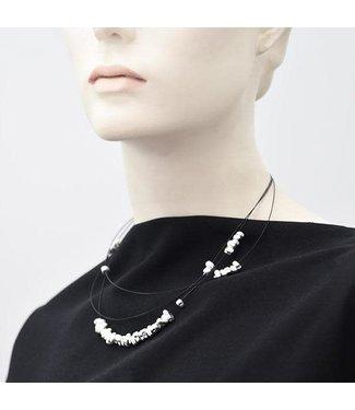 Pursuits Zetta Necklace - Silver/Black